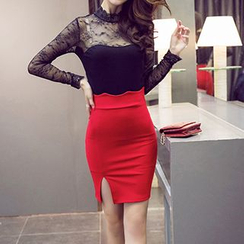 Flore - Slit-Side Pencil Skirt