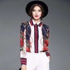 Ozipan - Long-Sleeve Printed Shirt