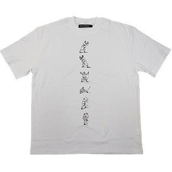 Alan Chan - T-shirt(Short Sleeve) - Tai Chi in White with Black