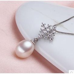 ViVi Pearl - Freshwater Pearl Pendant with Sterling Silver Necklace