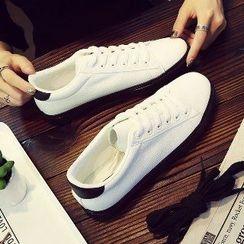 Solejoy - Platform Panel Lace-Up Sneakers