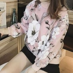 Little V - Floral Pullover