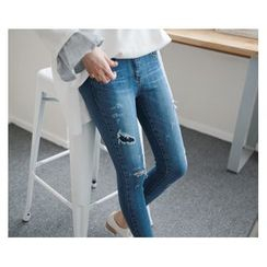 demavie - Distressed Skinny Jeans