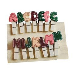 ioishop - Set of 14: A-Z Letters Wooden Peg