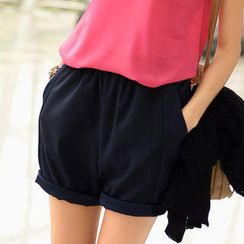 SO Central - Elastic-Waist Low-Crotch Shorts