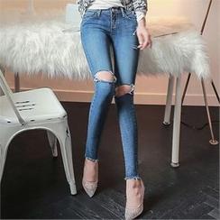 Babi n Pumkin - Fray-Hem Distressed Skinny Jeans