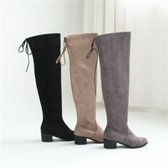 GLAM12 - Faux-Suede Long Boots