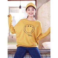 icecream12 - Smile Print Pullover