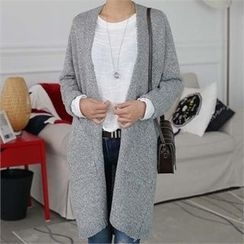 CHICFOX - Open-Front Mélange Cardigan