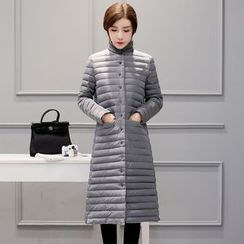 AiSun - High Neck Long Padded Coat