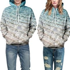 Omifa - Couple Printed Hooded Pullover