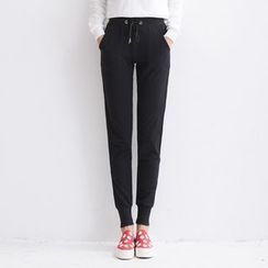 Kiyoko - Drawstring Waist Sweatpants