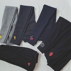 CIYEBABY - Embroidered Fleece-Lined Leggings