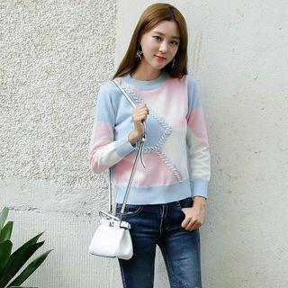 Effie - Color-Block Knit Top