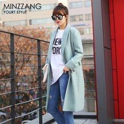 Seoul Fashion - Single-Breasted Colored Coat