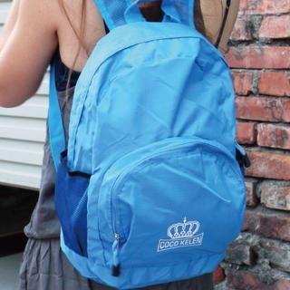 B.B. HOUSE - Crown-Print Waterproof Backpack