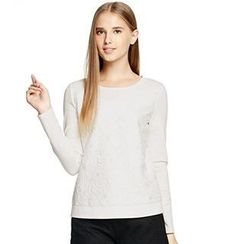 O.SA - Lace-Front Pullover
