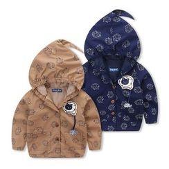 JAKids - 小童印花连帽外套