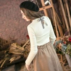 Tokyo Fashion - Long-Sleeve Tie-Back Knit Top