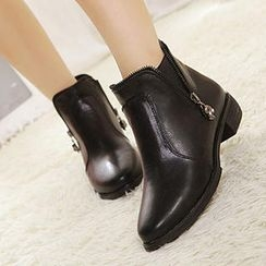 Mancienne - Side-Zip Ankle Boots
