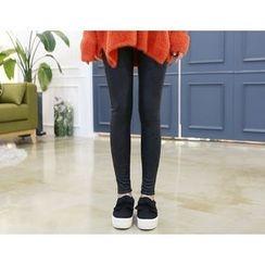 DANI LOVE - Coated Brushed-Fleece Lined Leggings