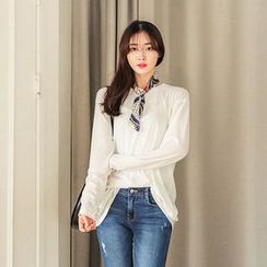 Seoul Fashion - Mélange Sheer Henley