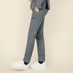 MEOSIDDA - Checked Tapered Dress Pants