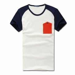 MR.PARK - Contrast-Pocket Raglan T-Shirt