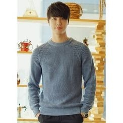 JOGUNSHOP - Raglan-Sleeve Rib-Knit Sweater
