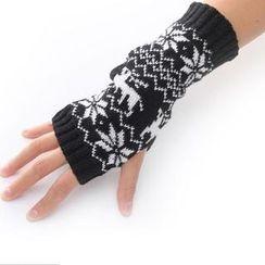 Nirvana Nation - Nordic Pattern Fingerless Gloves