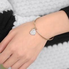 59 Seconds - Rhinestone Charm Bangle