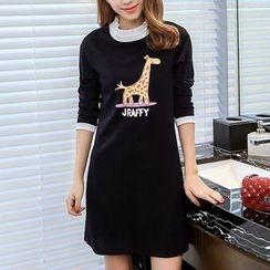 Q.C.T - Giraffe Long-Sleeve Dress