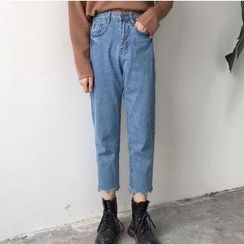 MATO - Washed Cropped Jeans