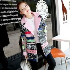 NINETTE - Printed Padded Buttoned Coat