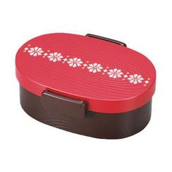 Hakoya - Hakoya Tight Mokume Oval Lunch Box Small (Enji)