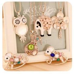Momoi - Cat's Eye Stone Necklace (8 Designs)