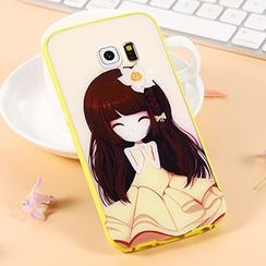 Kindtoy - Cartoon Girl Print Mobile Case - Samsung Galaxy S6 / S6 edge+