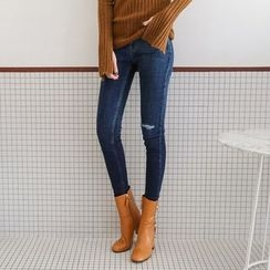 PPGIRL - Distressed Skinny Jeans