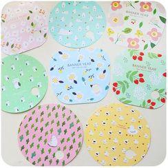 Momoi - Floral Print Hand Fan