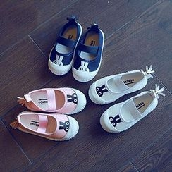 BOOM Kids - Kids Rabbit Printed Canvas Slip Ons