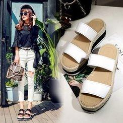 Anran - Platform Slide Sandals