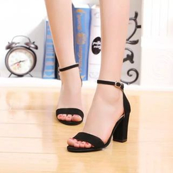 Ginko - Ankle-Strap Chunky-Heel Sandals