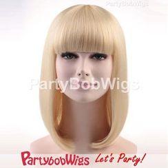 Party Wigs - PartyBobWigs - 派对BOB款中长假发 - 白金色