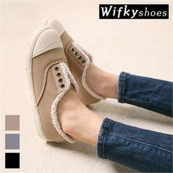 Wifky - Toe-Cap Fleece-Lined Slip-Ons