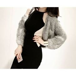 Marlangrouge - Open-Front Furry Knit Cardigan