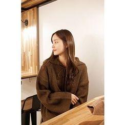 CHERRYKOKO - Sailor-Collar Wool Blend Knit Top