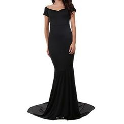 Noctiluca - Short Sleeve V-Neck Evening Gown