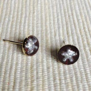 MyLittleThing - Resin Little Snowflake Earrings (Brown)