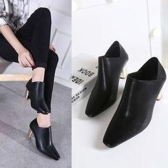 Monde - Block Heel Ankle Boots