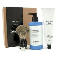Baxter Of California - Shave 1.2.3 Set: Shave Formula + Balm + Brush